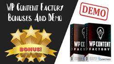 WP Content Factory Review | WP Content Factory Bonus And Demo Cold Calling, Proposal Templates, The Hard Way, The Creator, Packing, Content, Make It Yourself, Youtube, Bag Packaging