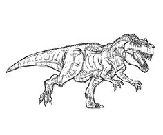 Free T Rex Coloring Pages