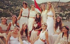 Going abroad for your Hen Night? Channel Mamma Mia with a neutral theme and floral headbands - so boho! #HenParty #Ideas #GirlyNightsOut xx