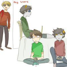 Homestuck: Pantyraid fancomic (Dave, Karkat, John, Sollux, Jade, Terezi, Rose, Aradia)
