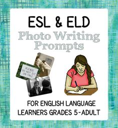 This product includes a dozen two-page writing prompts (using photos in the public domain) for high-beginner and intermediate English Language Learners.There are two worksheets per photo (24 in total)