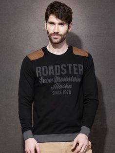 Roadster Printed Men's Round Neck T-Shirt