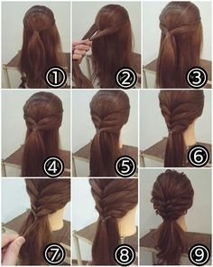 Super Easy Ponytail Effect Work Hairstyles, Braided Hairstyles, Hair Arrange, Pinterest Hair, Hair Dos, Gorgeous Hair, Hair Designs, Hair Hacks, Bridal Hair