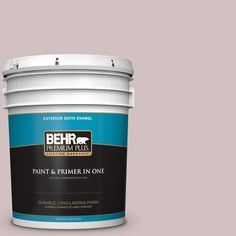 BEHR Premium Plus 5-gal. #120E-2 French Taupe Satin Enamel Exterior Paint