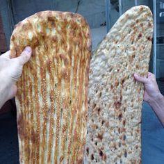 Iranian bread. Barbari and Sangak.