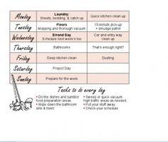 Weekly Chore Schedule