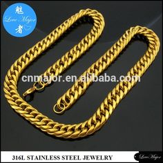 Check out this product on Alibaba.com App:Men Hip Hop Chunky Chain Stainless Steel jewelry Necklace 18K Gold Plated https://m.alibaba.com/YneYr2