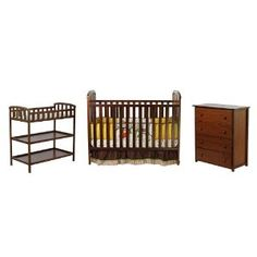 Dream On Me 3 Piece Infant Nursery, Walnut --- http://bizz.mx/j43