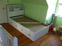 walmart twin storage bed with headboard assembled in kensington md by Furniture assembly Experts LLC