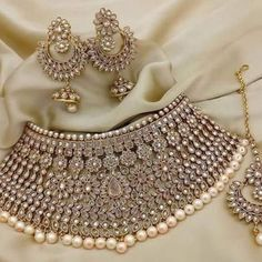 Choose from our wide collection of Leading Designer Suits and ace the luxurious look at any party at affordable prices. Indian Jewelry Sets, Indian Wedding Jewelry, Wedding Jewelry Sets, Wedding Accessories, Hair Accessories, Antique Jewellery Designs, Jewelry Design, Stylish Jewelry, Fashion Jewelry