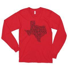 El Paso Texas Long sleeve t-shirt (unisex)