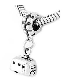 Sterling Silver RV Camper Vacation Trailer Dangle Bead Charm - Listing price: $45.99 Now: $22.99