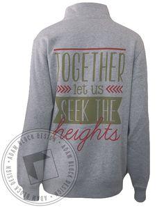 Alpha Chi Omega Seek The Heights Half-Zip Sweatshirt