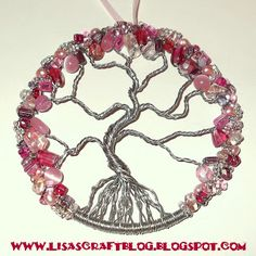 Lisa's Craft Blog: Tutorial: Wire-Wrapped Tree of Life Ornament