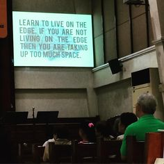 When #franciskong visited #dumaguete. #wordsofthewise #livingontheedge #life #takingrisks #lifelessons by @ysmalahaykim via http://ift.tt/1RAKbXL