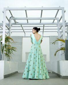 Mint Anarkali Gown - waliajoness - 3