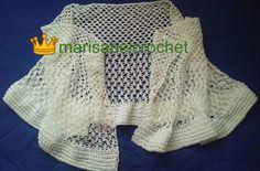 Marisabel crochet: Estola quetejíen dos puntos, con borde muy tupid...