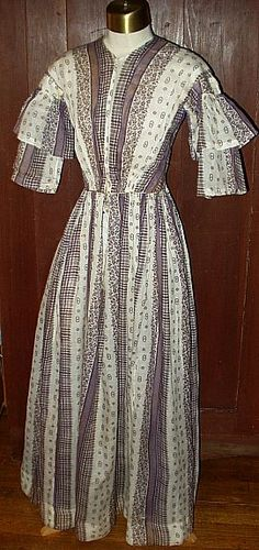 Lady's 1850 Dress ~ A Study Of Fabric « The Gatherings Antiques Vintage Antiques News