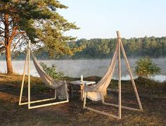 hamock ideas for the babckyard | Hammock Chair by Yurii Cegla Brings Simplicity into Outdoor Furniture ...