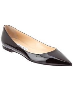 free shipping comfortable shipping outlet store online Jimmy Choo Bow-Accented Patent Leather Flats cheap sale low cost sale many kinds of gwtP3Jb