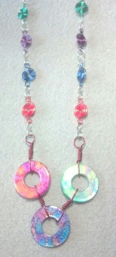 Washers with alcohol ink