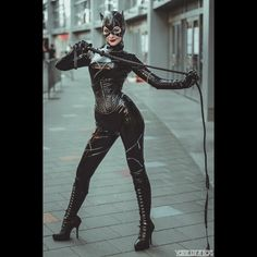 Catwoman Cosplay, Dc Cosplay, Cosplay Girls, Selena Kyle, Dominatrix, Catsuit, Cowl, Dc Comics, Corset