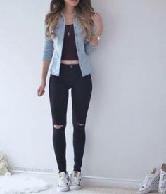 Clothes For Teens Summer White Jeans 52 Ideas Basic Outfits, Casual Fall Outfits, New Outfits, Trendy Outfits, Cool Outfits, Fashion Outfits, Everyday Outfits, Everyday Fashion, Teenage Outfits