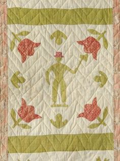 "Detail, 19th C. album quilt, 78 x 95"", Copake Auction, Live Auctioneers"