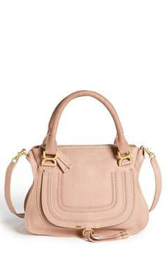 Year round classic | Pastel pink Chloé 'Medium Marcie' leather satchel.