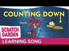 The Counting Down from 20 Song | Counting Songs | Scratch Garden
