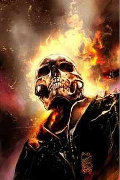 I really love Ghost Rider so I wanted to create my own interpretation of it! Ghost Rider is copyright of MARVEL Comics (www. Ghost Rider Johnny Blaze, Ghost Rider 4, Ghost Rider Marvel, Comic Book Characters, Comic Character, Comic Books Art, Comic Art, Marvel Comics Art, Marvel Vs