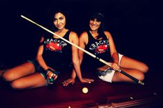 Who want to play some pool with April and Cinthia? http://www.ruralragskrackergear.com/