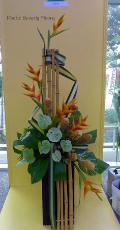note use and placement of bamboo.