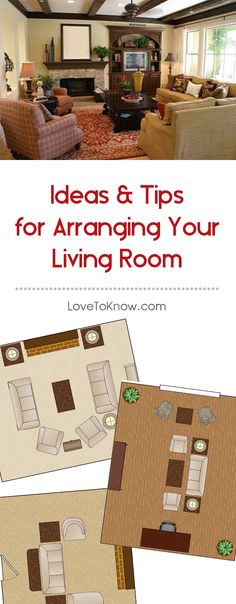 Thinking about rearranging your living room? Before you start moving furniture, check out these ideas for arranging your living space ... diagrams included!