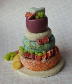 Dollhouse Miniatures Handmade Gouda Cheese Wheel Food 1