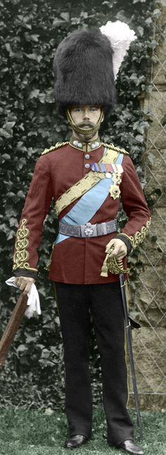 Tsarevitch Nicholas in the uniform of the Scots Greys at Balmoral in 1896. Queen Victoria gave him the title of Colonel-in-Chief of the Royal Scots Greys which pleased him immensely
