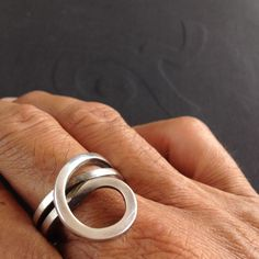 Sterling Silver Rings,Modern Jewelry,Hand Made Item and Original Designs,Unique,Simple Elegance,Unisex,Made to Order. by NineAccessories on Etsy