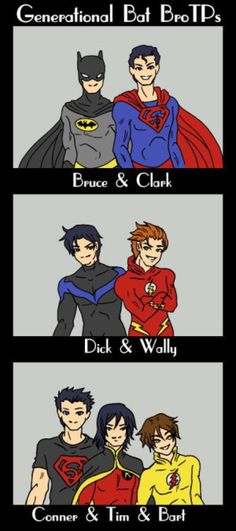Bat BroTP by elfgrove on @DeviantArt<<< Tim's hair is weird but i agree entirely with all of these