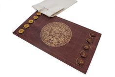 Puluc - Traditional Mayan Boardgame. Version mahogany.     www.puluc.pl