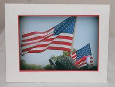 photo card patriotic American flag USA red by RoadAheadPhotos, $3.50