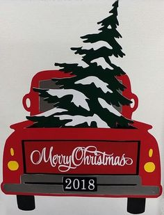 Country Christmas red pick up truck art images de noel Noel Christmas, Vintage Christmas, Christmas Ornaments, Christmas Red Truck, Christmas Crack, Christmas Vinyl, All Things Christmas, Christmas Cookies, Christmas Projects