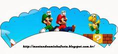 Super Mario Bros Free Party Printables and Invitations. Super Mario Brothers, Super Mario Bros, Super Mario Birthday, Mario Birthday Party, Super Mario World, Mario Y Luigi, Mario Kart, Super Mario Cupcakes, Peach Mario