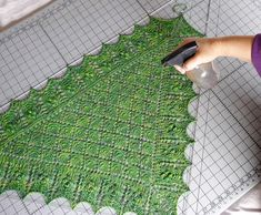 Using Blocking Wires To Block A Lace Shawl - How To - Blogs - Knitting Daily