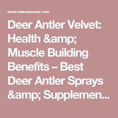 Deer Antler Velvet: Health & Muscle Building Benefits – Best Deer Antler Sprays & Supplements For Men   Men's Answer