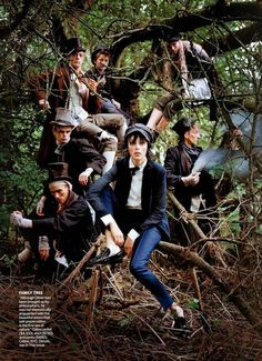 """""""Dressing Like the Dickens"""": Edie Campbell in Oliver Twist-ish Fashion Styled by Grace Coddington and Shot by Tim Walker for US Vogue Decemb..."""
