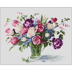 <h2>tulips, tableau à broder au point de croix sur toile aïda 7</h2>
