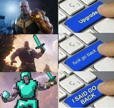 Funny Dank Memes - CLICK 4 MORE MEMES (pro_raze) Marvel Funny, Marvel Memes, Funny Comics, Images Minecraft, Minecraft Memes, Gamer Humor, Gaming Memes, Funny Jokes, Hilarious