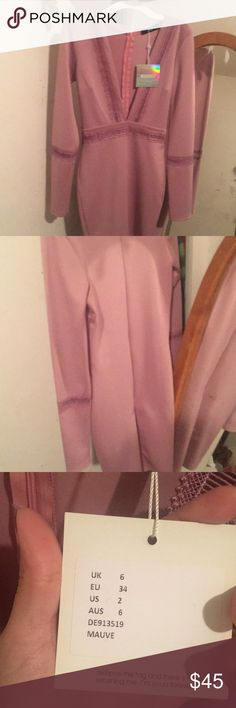 Miss guided dress Brand new missguided  b neck dress . It's a Mauve purple color ! Super cute. Missguided Dresses