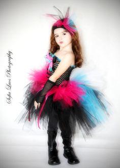 Diva Rocker/Punk tutu dress and costume by SofiasCoutureDesigns, $69.00
