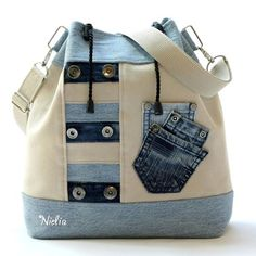 Wonderful Pictures Sewing Jeans Tutorials Ideas Ideas For 2019 Ideas I enjoy Jeans ! And even more I want to sew my own, personal Jeans. Next Jeans Sew Along I am like Sacs Tote Bags, Tote Purse, Backpack Bags, Patchwork Bags, Quilted Bag, Patchwork Quilting, Quilting Ideas, Sewing Jeans, Jean Purses